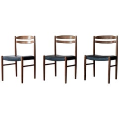Set of Three Swedish Chairs by Carl Ekström for Albin Johansson & Söner, 1950s