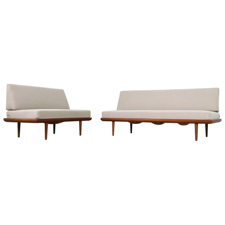 1960s Teak Daybed Sofa Set Peter Hvidt Minerva Danish Modern Design
