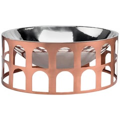 Colosseum III Copper and Silver Pleated Centerpiece by Jaime Hayon