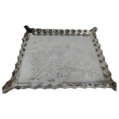 Antique Gorham Aesthetic Japonesque Sterling Silver Tray