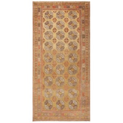 Beautiful Light Green Antique Khotan Rug