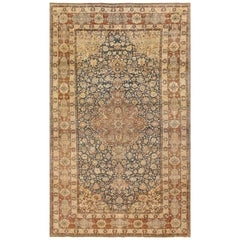 Blue Room Size Antique Persian Isfahan Rug