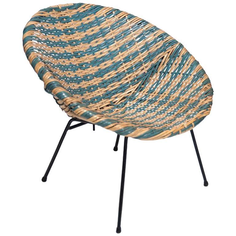 Round Woven Child Chair, Designer Unknown, USA, 1960s