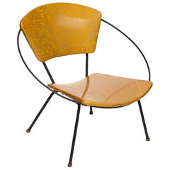 Vinyl Circle Child Chair, Designer Unknown, USA, 1950s