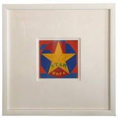 Midcentury Pop Robert Indiana Signed & Dated Enamel on Metal, Star of Hope 1972