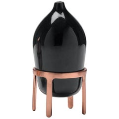 Aether Black Ceramic Oil Lamp by Jaime Hayon
