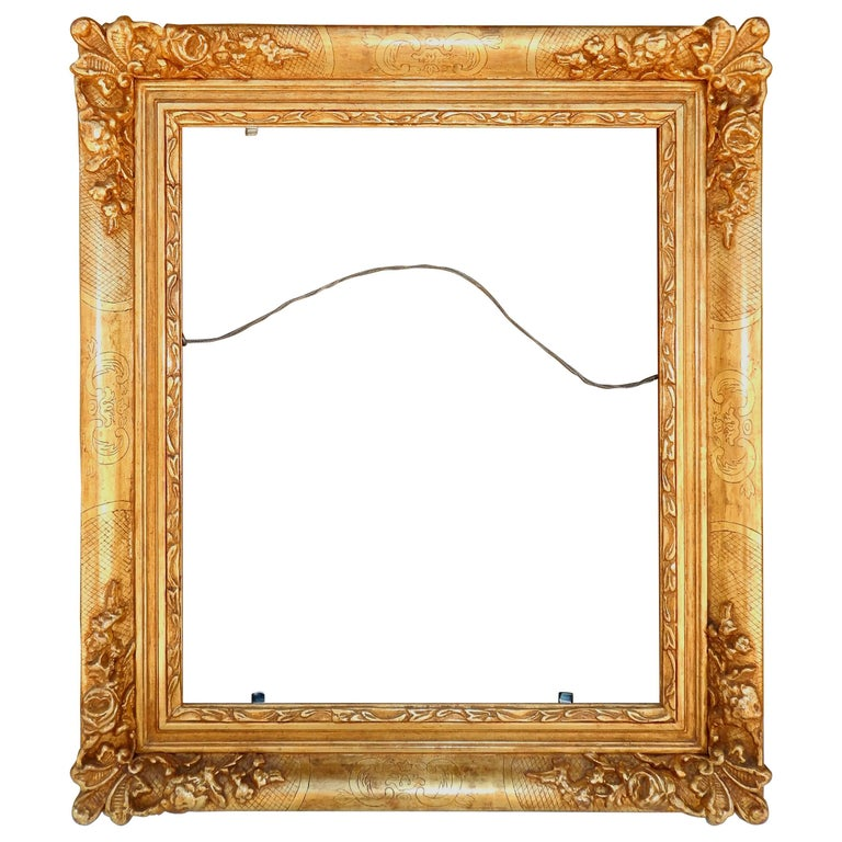 Beautiful Carved Frame By Fine California Frame Maker Richard Tobey