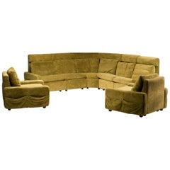 Walter Knoll Modular Sofa in Green Velvet
