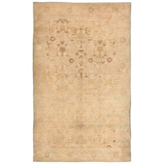 Ivory Antique Indian Cotton Agra Rug