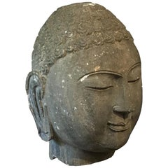 Chinese Carved Limestone Head of the Buddha, Mid-20th Century