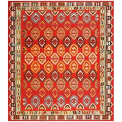 Vibrant and Fine Vintage Sarkoy Turkish Kilim Rug