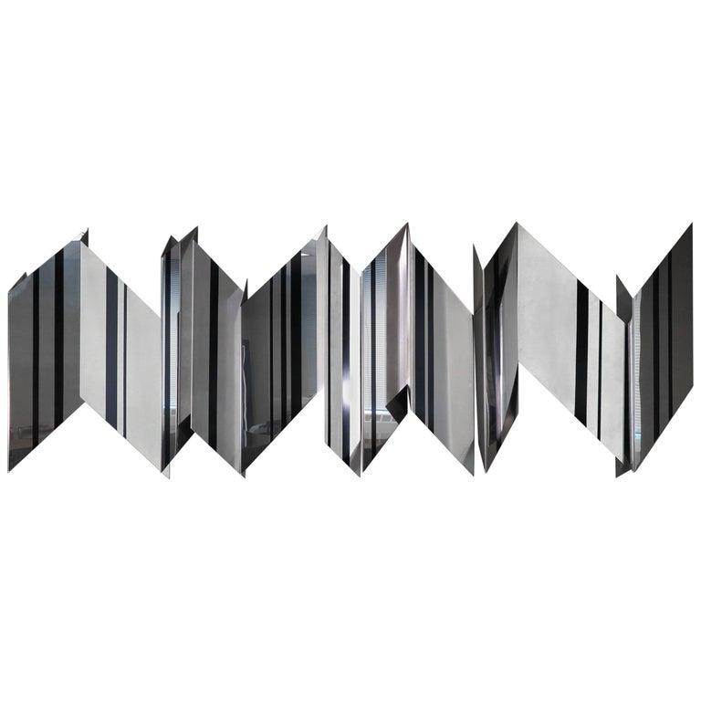 Modernist Wall Mounted Steel Sculpture