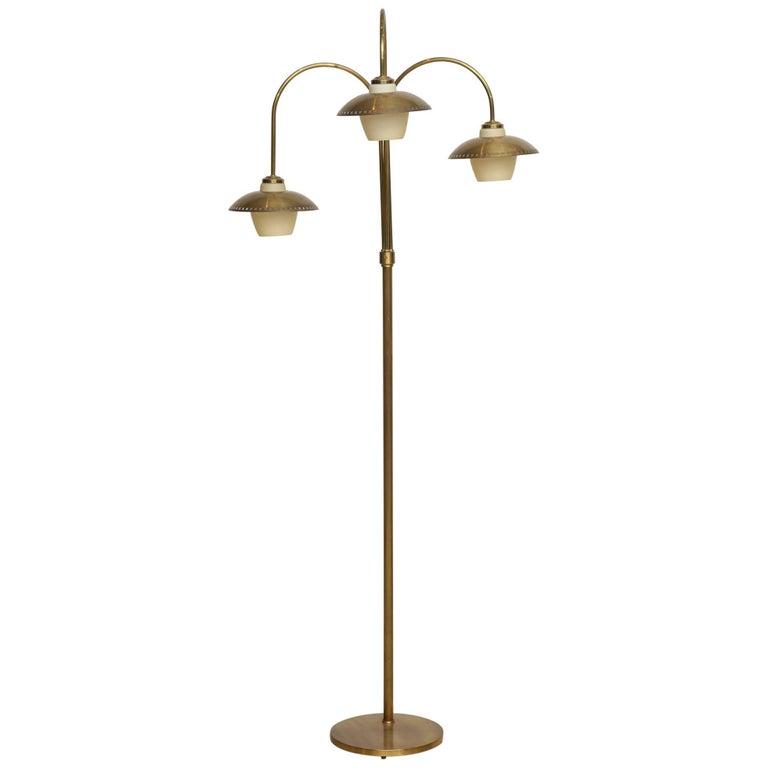 Vilhelm Lauritzen, Floor Lamp with Three Arms, Circa 1960