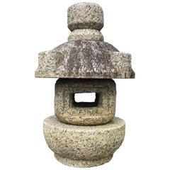 "Japan Vintage Stone Lantern ""Tamate"" Hand-Carved Classic"
