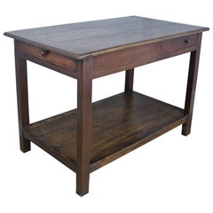Antique French Oak Work Table