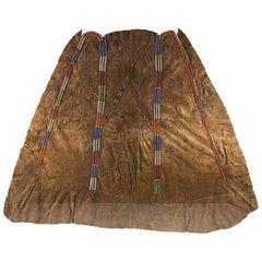 Beaded Native American Hide Dress, Late 19th Century