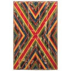 Anonymous Abstract X Geometric Painted Board