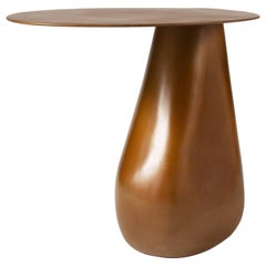 Contemporary 'Dionis' Side Table Handmade in Patinated Bronze by Konekt