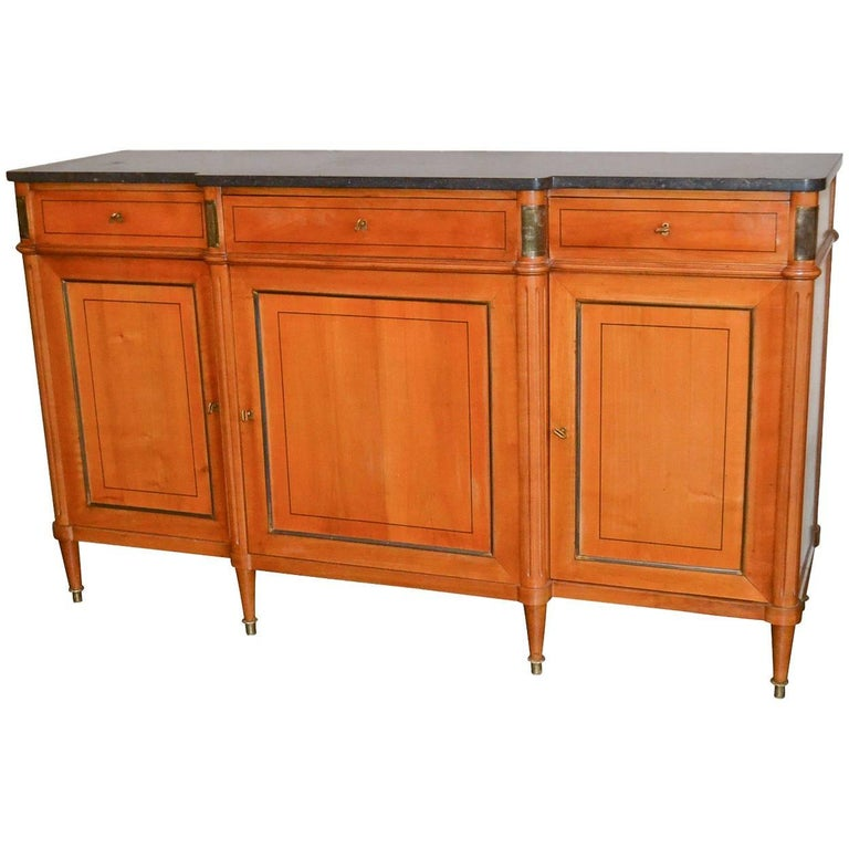 19th Century French Directoire Maple Buffet Sideboard