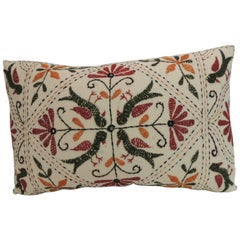 Vintage Embroidery Indian Bolster Decorative Pillow