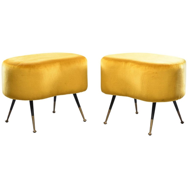 Pair of Carlo de Carli Style Small Benches or Stools