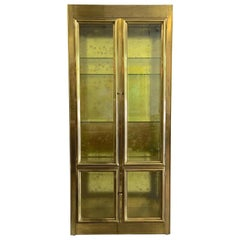 Mastercraft Illuminated Brass and Glass Vitrine