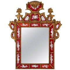 Venetian Èglomisé Painted Mirror