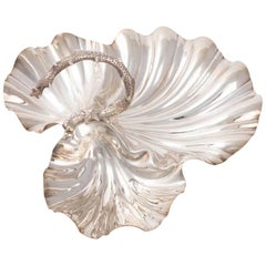 Scallop Shell Silver Plated Serving Dish