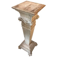 Carved Wood Victorian Pedestal