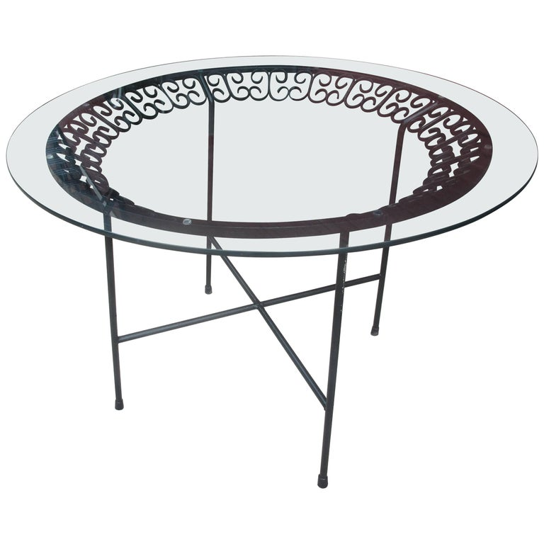 Arthur Umanoff Iron and Glass Table for Shaver Howard