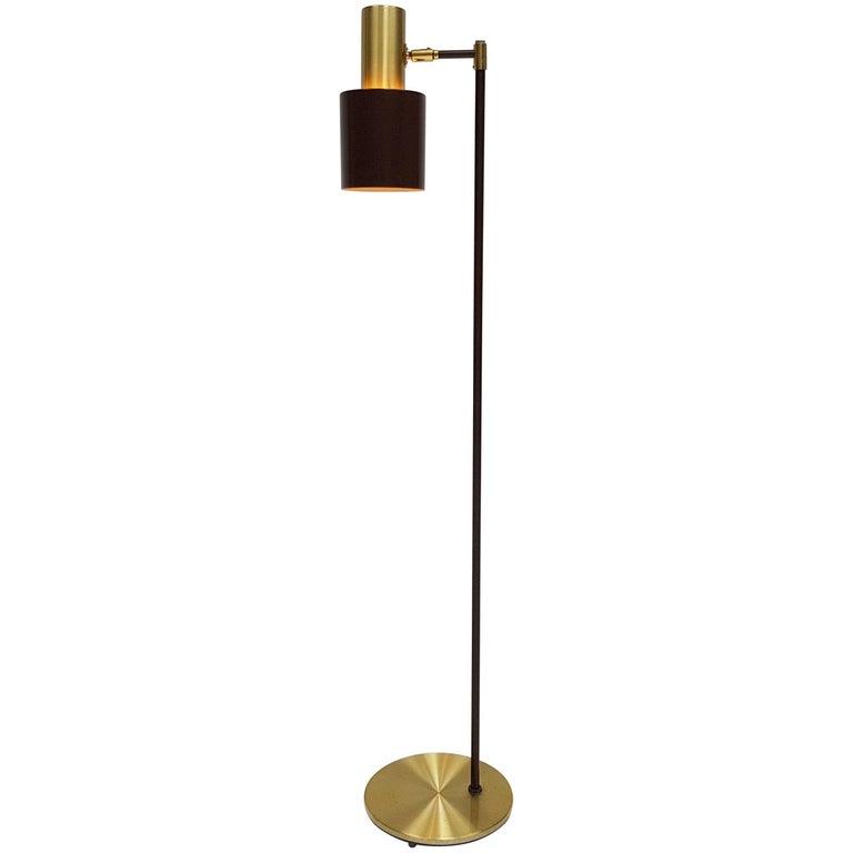 Jo Hammerborg Brass 'Studio' Floor Lamp for Fog & Mørup, 1960s