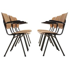 Dutch Design Industrial Plywood Chairs, 1960s