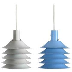 Pair of Danish Modern Pendant Lamps, Early 1960s by ABO Randers, Denmark