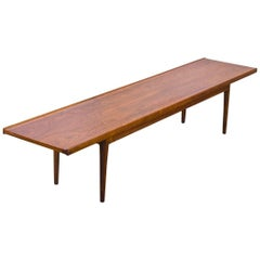 Kipp Stewart Long Walnut Bench for Drexel