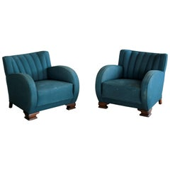 Pair of Danish Art Deco Club Chairs, 1930s, 1920s