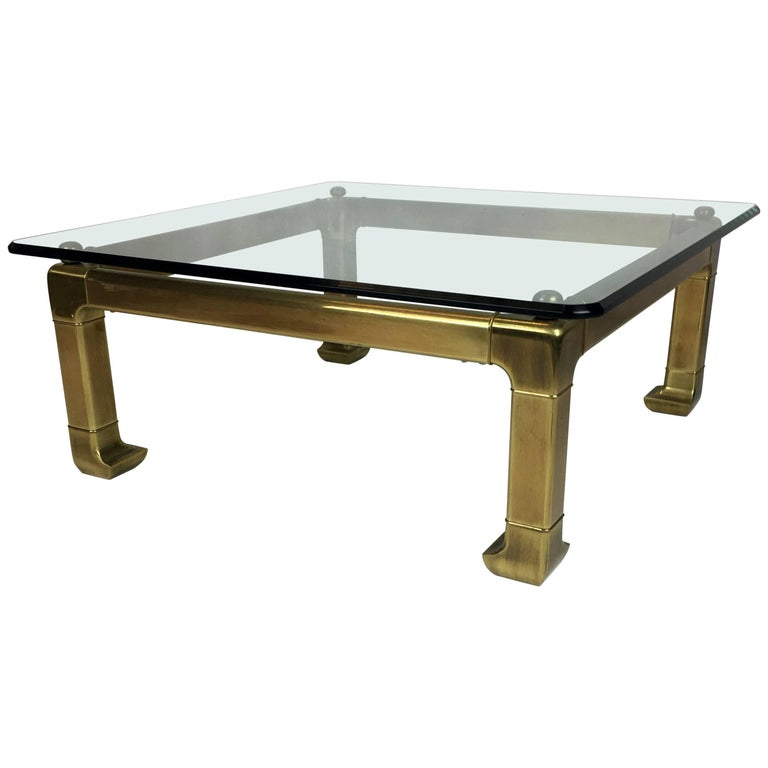 Brass Coffee Table by Mastercraft