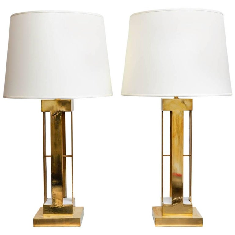 Large Pair of 1970s Lamps For Sale