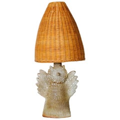 "Nice Ceramic ""Owl"" Lamp by Vallauris"