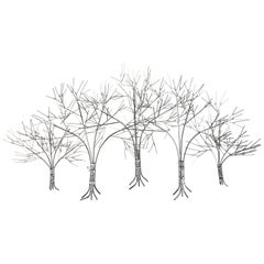 "Beautiful and Large ""Trees in Winter"" Wall Sculpture by C. Jere"