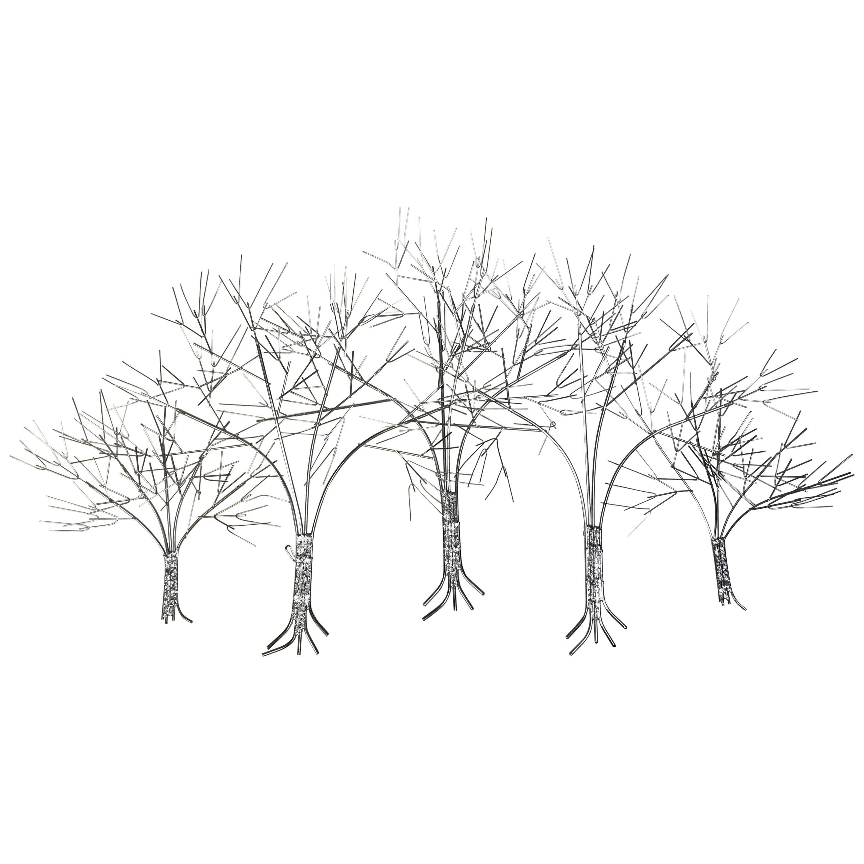 Beautiful And Large U0026quot;Trees In Winteru0026quot; Wall Sculpture ...