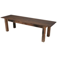 Antique French Industrial Work Table or Rustic Farm Dining Table, circa 1900
