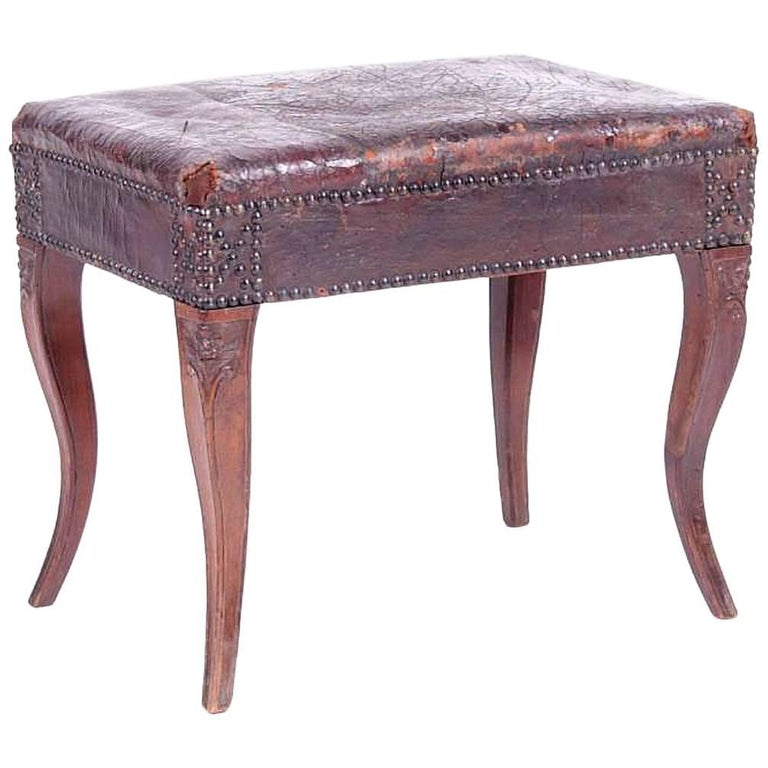 Rare 18th Century Carved Walnut Bench from Provence For Sale