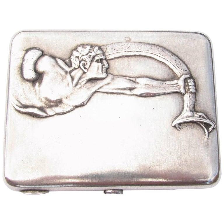 Russian Tsarist Silver Cigarette Card Case