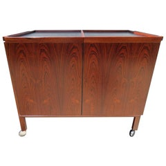 Stunning Rosewood Expansion Bar Cart by Niels Erik Glasdam Jensen
