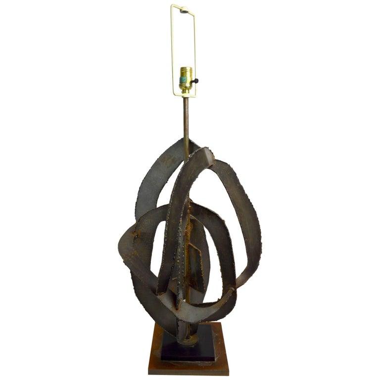 Brutalist Lamp by Balmer for Laurel For Sale