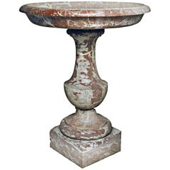 French 17th Century Breche Marble Font