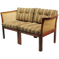 1960s Illum Vikkelso Danish Plexus Sofa in Rosewood by CFC Silkeborg