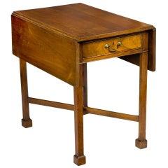 Walnut Chippendale Pembroke Table with Marlborough Leg, Pennsylvania