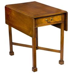 Walnut Chippendale Pembroke Table with Marlborough Leg, Pennsylvania