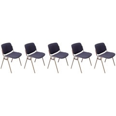 DSC 106 Chairs by Giancarlo Piretti for Castelli, 1970s, Set of Five
